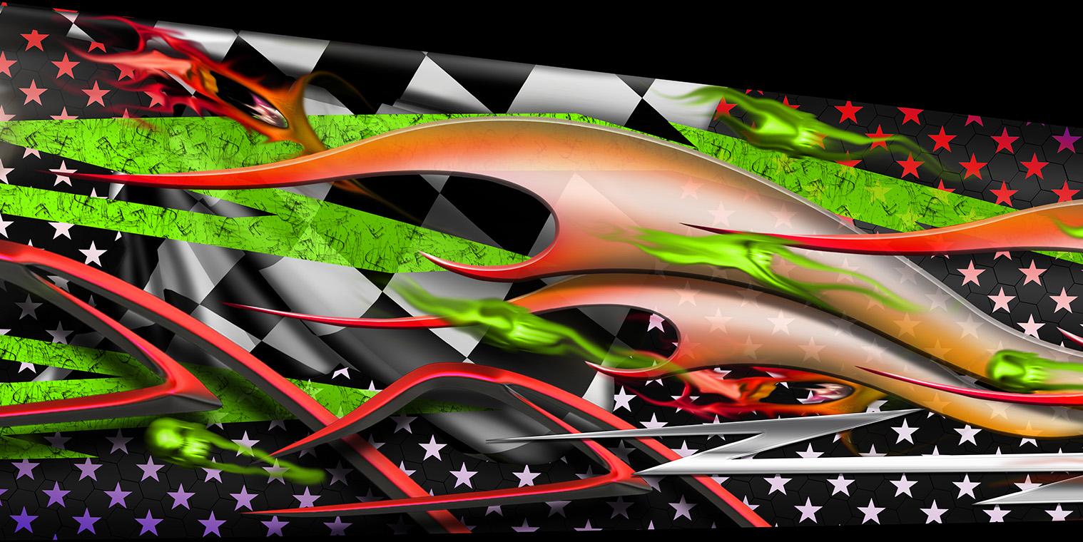 Custom Designed Boys Junior Dragster Graphics Wrap
