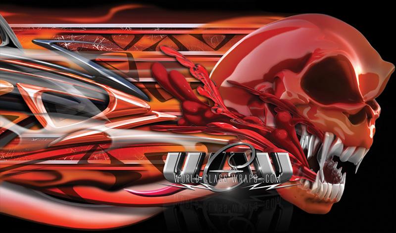 Truck Tailgate Tribal Skulls Graphics